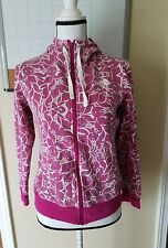 The North Face Orchid Graphic Print Zip Up Hoodie Sweater Women Size Small S