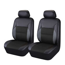 Full black  Breathable PU leather Universal fit car truck/suv car seat covers