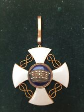 Italian Order Of The Crown In Gold Commander Neck Badge No Ribbon