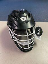 Warrior Burn Lacrosse Helmet - Medium- Matte Black / White Cage - Floor Model