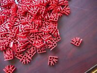 K'Nex KNEX RED CONNECTORS 3-Position Standard Bulk Replacement Parts LOT 300