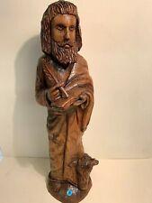jolie sculpture religieuse en bois- LOT 25