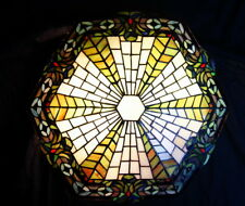 Hot Sale@Classic Peacock  Semi Flush Stained Glass Ceiling Lighting*Restock Now