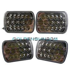 "4pcs 7""X6"" LED HID Cree Light Bulbs Crystal Clear Sealed Beam Headlamp Headlight"