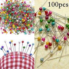 100pcs Dress Wedding Crafts Pins Round Head Straight Sewing Needles Pins
