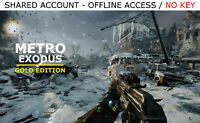 Metro Exodus PC Gold Edition +3 BONUS GAMES Steam OFFLINE - READ DESCRIPTION