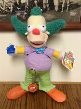 "RARE NEW 2004 The Simpsons Krusty the Clown Plush Doll Applause 13"" w/ tags"