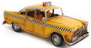 vintage retro style tin  model american cab nyc