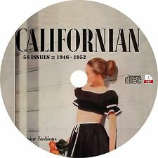 The Californian {56 Issues, 1946-1952} Vintage Fashion Magazine on CD