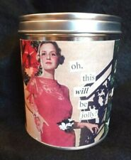 ANNE TAINTOR Retro Inspired Humor HOLIDAY SPIRIT SPICE SCENTED CANDLE ~ NEW