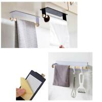 Cabinet Kitchen Towel Holder Roll Paper Storage Rack Shelf Self-Adhesive