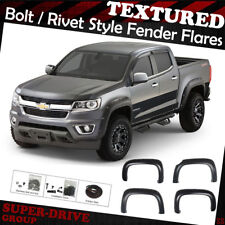 Textured Pocket-Riveted Fender Flares For 2015-2018 Chevy Colorado 62.7 inch Bed