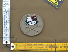 """Ricamata / Embroidered Patch """"Hello Kitty Roger"""" Coy Tan with VELCRO® brand hook"""