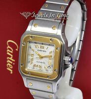 Cartier Santos Galbee 2423 18k Yellow Gold and Steel Ladies Automatic Watch