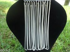 """NEW 6pcs Silver Plated Hollow Mesh Snake Chain Necklace 17.5""""W"""