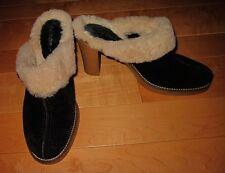 BCBGirls B C B Girls Black Suede w/Faux Shearling Heels *Sharp Must C* 38 US 8