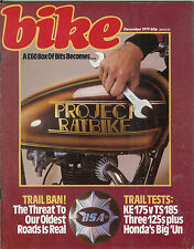 Bike 1979-12  Suzuki GS850G Honda XL500 KE175 TS185, BSA Tracker XL125