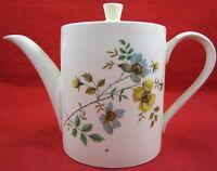 Vintage SADLER POTTERY TEAPOT Ceramic Floral Pattern Lid England Yellow White