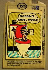 vtg impko water decal toilet suicide bizarre novelty goodbye cruel world