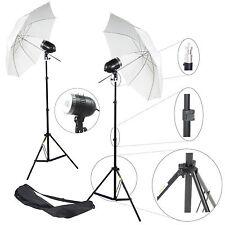 Kit 2x Éclairage Studio Barebulb Lampe DynaSun 2x SDW80 Flash Parapluie Trépied