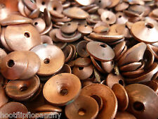 100g ASSORTED  SOLID COPPER ROVES DISHED CONE SHAPED WASHERS RESTORATION MARINE