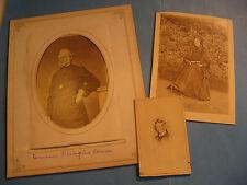3 PHOTOGRAPHIES FAMILLE PHILOGENE CAMU CONSEILLER MARNE 1860-70 Signées REIMS