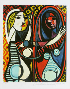 Pablo PICASSO Girl Before A Mirror Limited Edition Giclee Signed 20x13