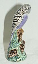 More details for violet budgerigar 11 cm figure by quail ceramics