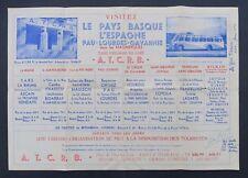 Dépliant touristique VISITEZ LE PAYS BASQUE car Pullman Pau Lourdes ATCRB 2