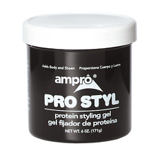 Ampro Pro Styl Protein Styling Hair Gel Regular Hold Wax Protein Non-Greasy 6oz