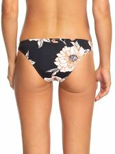 Roxy Beach Classics Moderate Bikini Bottom - Women's - Medium, Anthracite Flower