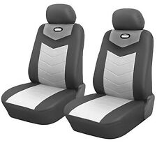 Car Seat Covers Cushion 2 Front Gray Leather Like Toyota Tacoma #802