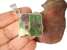 RUBY Fuchsite  Sterling Silver  925  Gemstone  PENDANT -  Gift Boxed