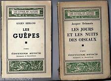 Lot de 5 Les livres de nature guepes oiseaux libellules scorpions 1935- 1945