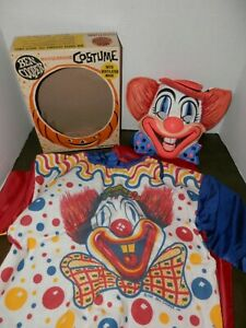 Vintage Halloween Costume Ben Cooper Clown 1965 Awesome