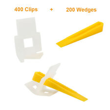 600 Tile Leveling System 400 clips+200 wedges Wall Floor Spacers Strap Clip Tool