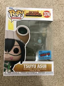 Funko Pop! My Hero Academia Tsuyu Asui Clear #374 NYCC 2021 Con Sticker IN HAND