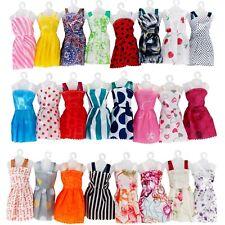 12 Pcs Zufällige Kleid Outfit Party Kleidung Für Barbie Puppe Geschen Spielzeug