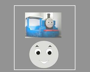 Little Tikes Thomas the Tank Engine Bed Replacement Mouth Eyebrow & Eye Stickers