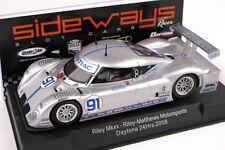 SIDEWAYS SW01 RILEY MKxx DAYTONA NEW 1/32 SLOT CAR IN SEALED DISPLAY CASE