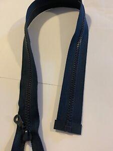 """Navy  Plastic Chunky Coat Zip /22.5"""" jacket zip-  navy coat zip."""
