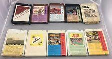 Lot of 10 Vintage 8 Track Cassette Tape, Assorted Tested.Oldsmobile,Dirty Dozen.