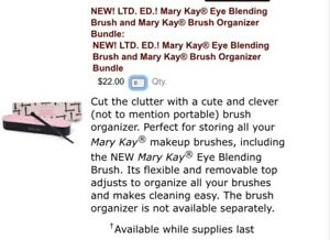 NEW Limited Edition Deal Mary Kay Brush Organizer And Eye Blending Brush Bundle