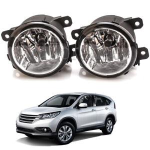 Pair For Honda CRV 2012-2014 Fog Lamp Driving Light with H11 Blubs 55 Left Right