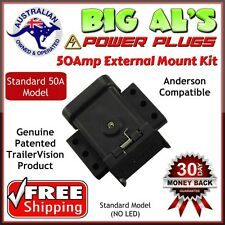 50Amp Trailervision External Mounting Mount Kit Cap Cover Suits Anderson Plugs