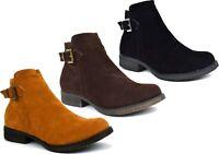 New Ladies Suede Casual/Formal Low Block Heel Winter Boot UK Size 3-8