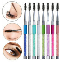 Rhinestone Makeup Eyelash Brush Eyebrow Comb Mascara Spiral Wands Applicator!