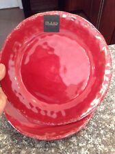 Il Mulino Red MELAMINE Dinner Plates  New Set Of 4