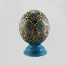 Painted Ostrich Egg , Gift, Decorations, Persian carpet, Easter egg T813