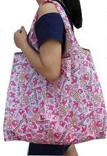 Cute Large My Melody Fruit Food FOLDABLE SHOPPER TOTE BAG Handbag Shopping Bag